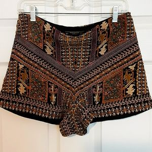 Zara Trafaluc Collection Jacquard shorts
